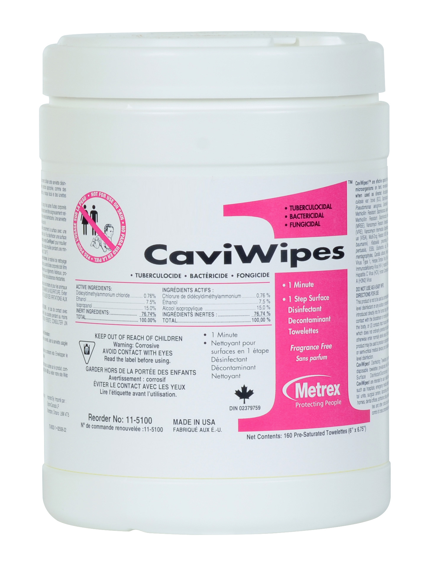 CaviWipes1 Towelettes Large 6x6.75 160pk