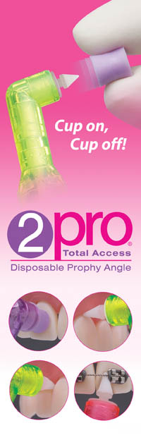2pro® Total Access Disposable Prophy Angle Premier
