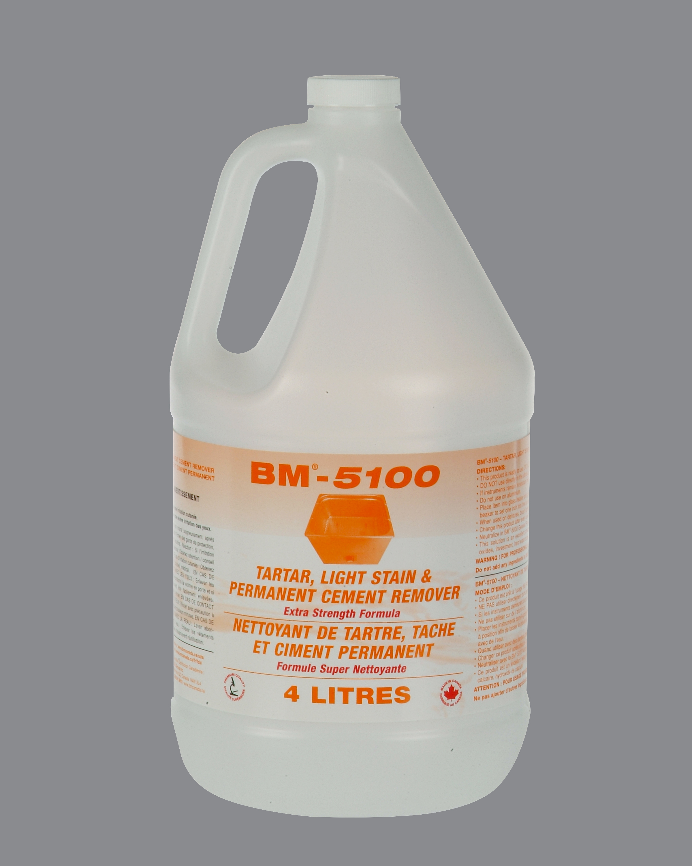 BM-5100 TARTAR LIGHT STAIN AND PERMANENT CEMENT REMOVER