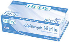 HEDY NITRILE BLUE LIGHTWEIGHT PF GLOVES #110NPFL