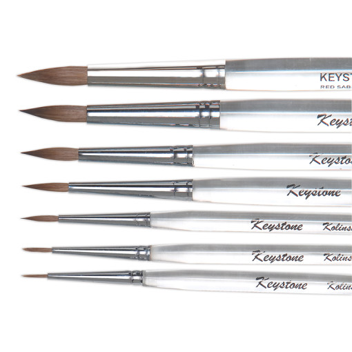 Kolinsky Ceramist Brushes (Sizes 0, 2, or 4.)