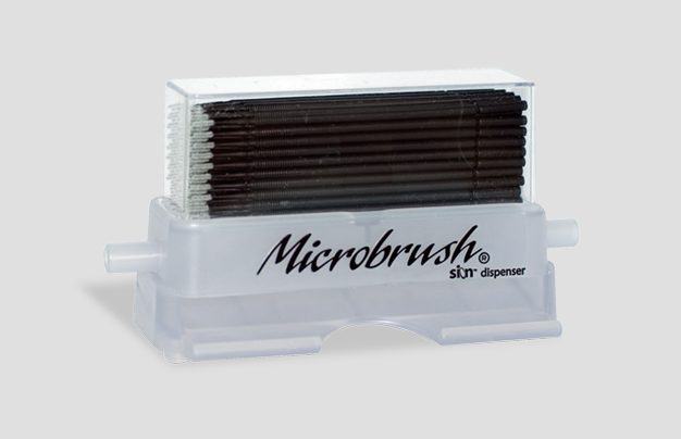MICROBRUSH X 100/PK WITH DISPENSER #MPX