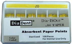 DIA-ISO GT GREATER TAPER .04 PAPER POINTS