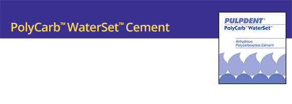 POLYCARB WATERSET CEMENT PULPDENT #CPC