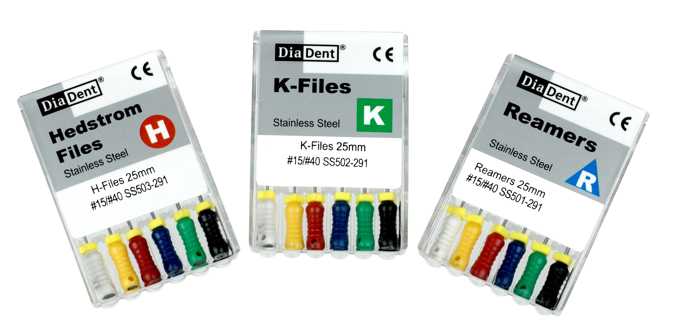 Diadent SS Reamers 21mm 6pk