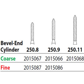 TWO STRIPER DIAMONDS CYLINDERS - BEVEL END 5pk
